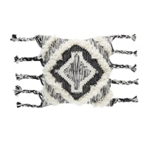 Cuscino berbero in cotone e lana intrecciata motivi rombi, 45x45 cm Soweto