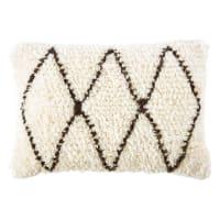 Cuscino berbero in lana e cotone, 40x60