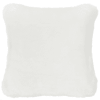 SNOWDOWN - Cuscino bianco in simil pelliccia 45x45 cm