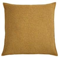 CHENILLE - Cuscino color ocra in tessuto 60x60cm
