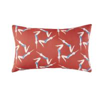 Cuscino da esterno rosso con stampa nuotatrici, 30x50 cm Swimy