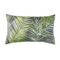 PUNTARENA - Cuscino da esterno verde con stampa a foglie, 30x50 cm