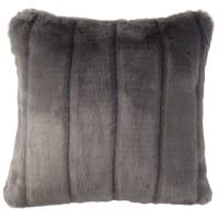 Cuscino grigio in simil pelliccia 45x45 cm Harmony