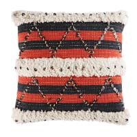 Cuscino in cotone intessuto con lustrini, 45x45