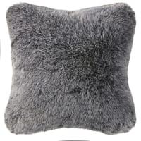 Cuscino in pelliccia ecologica grigio, 45x45 cm Nevada