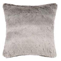 Cuscino in pelliccia ecologica grigio, 45x45 cm