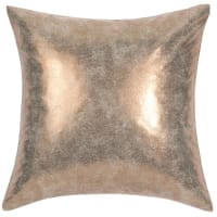 Cuscino in tessuto dorato 40 x 40 cm Goldused