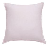 Cuscino rosa in lino lavato 60x60