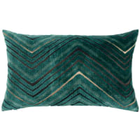 ASCOT - Cushion cover with green and gold print 30x50cm