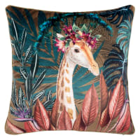 CAMBERLEY - Cushion cover with multicoloured animal print 40x40cm