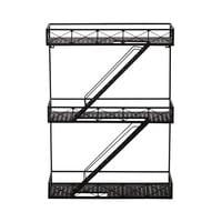 metal wall shelf unit in black H 70cm Darren