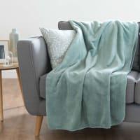 Decke aus Kunstfell, grün 150x230