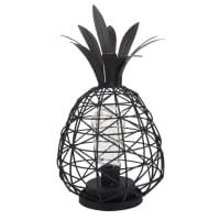 Déco lumineuse ananas en métal noir