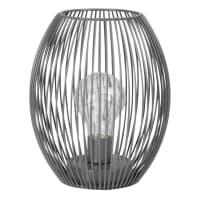 BOB - Déco lumineuse en métal filaire noir