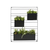 Déco murale 3 plantes artificielles en pot Malaga