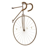 Déco murale demi-vélo en métal noir vieilli 25x86 Warren