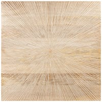 ELLIPSE - Déco murale en manguier beige 60x60