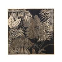 MILA - Déco murale en manguier gravé 119x119