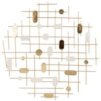 MAIA - Déco murale en métal beige et doré 59x60
