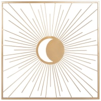 ALANYA - Déco murale en métal doré 50x50