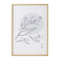 Déco murale imprimé arbre en fleurs 63x93 Osaka