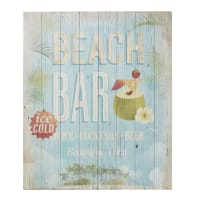 Déco murale imprimée en pin 80x100 Beach Bar