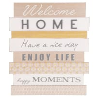 Déco murale lattes 45x52 Welcome Home