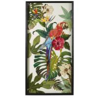 HONOLULU - Déco murale perroquet en papier multicolore 50x100