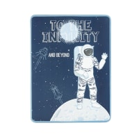 Déco murale plaque en métal imprimé cosmonaute 30x40 Galaxy