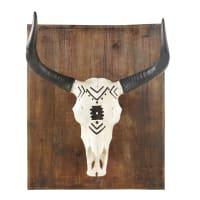 Déco murale tête de buffle 69x32 Zambie