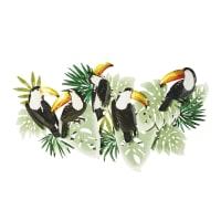 Déco murale toucans en métal 148x81 Amazonico