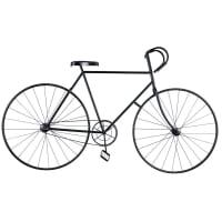 Déco murale vélo en métal noir 186x108 Urban Fixie
