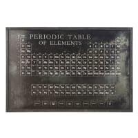 Decoração de parede tabela periódica de metal preta 120x80 Chester
