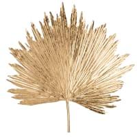 LEAF - Decoración de pared con motivo vegetal de metal dorado 61x61