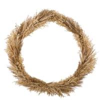 VALLIA - Decoración de pared corona de fibra vegetal 88x83