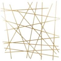 MOKABOKA - Decoración de pared de alambre de metal dorado 70x70 cm