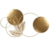 LIVIAZA - Decoración de pared de metal dorado 65x38