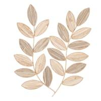 MADELEINE - Decoración de pared en forma de ramas marrón y beige 38x48 cm