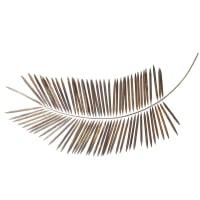 EXOTIC - Decoración de pared rama de palmera de metal dorado 82x163