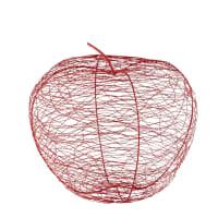 Decoratieve appel van rood metaaldraad H39 Yana