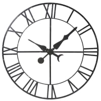 Decorative Black Metal False Clock D130 Alembert