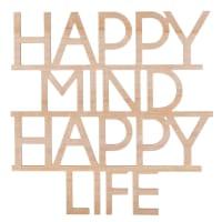 Decorazione da parete, 45x45 cm Happy Mind Life