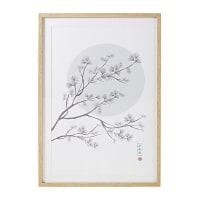 Decorazione da parete con stampa albero in fiore, 63x93 cm Osaka
