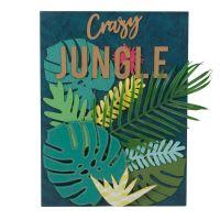 Decorazione da parete foglie tropicali, 30x40 cm Crazy Jungle