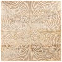 ELLIPSE - Decorazione da parete in mango beige 60x60 cm