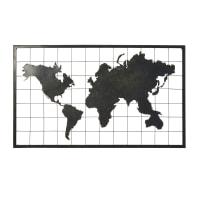 Decorazione da parete in metallo nero, 110x66 cm Gordon