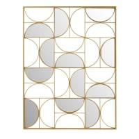 GOLDFINGER - Decorazione da parete specchio in metallo dorata, 90x120
