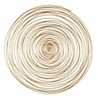 Decorazione da parete spirale in metallo dorata, 91 cm Jill