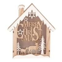 Decorazione natalizia casa luminosa