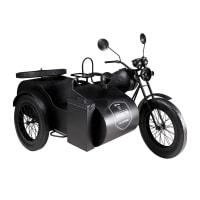 Deko aus schwarzem Metall 97x148cm SIDE-CAR Car Jeff